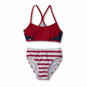 Joe Boxer Girls' Bikini Swim Top & Hipster Bottoms